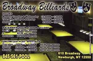 BROADWAY BILLIARDS(leagues tournaments)